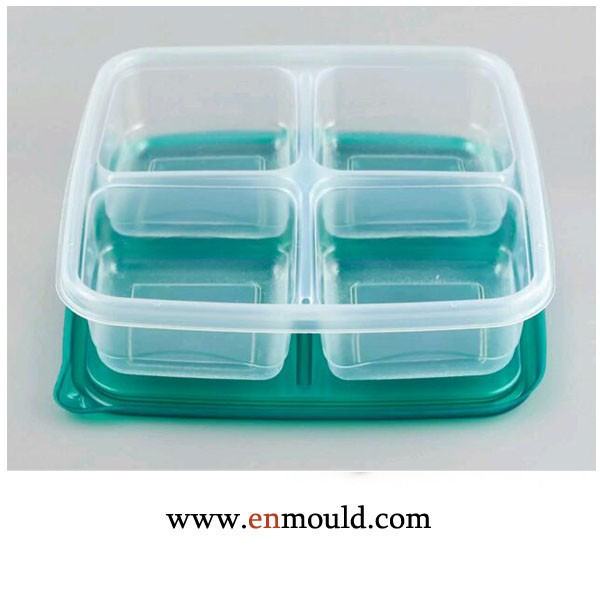 4 Compartment PP Lunch Boxes with Lids Plastic Microwave Safe BPA Free Containers
