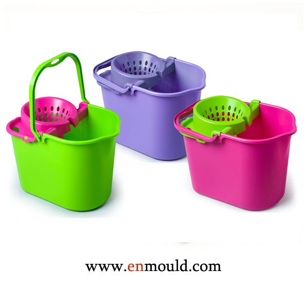 Houseware Mold Plastic Injection ABS Mop Bucket Moulding