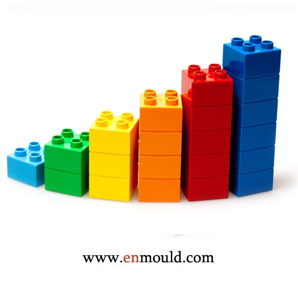 Colorful Plastic injection moulded Building Blocks